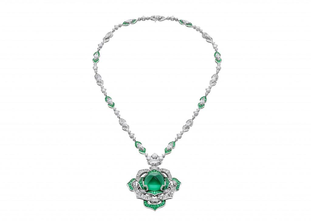 BVLGARI CINEMAGIA系列 Gina頂級祖母綠與鑽石項鍊(264528)