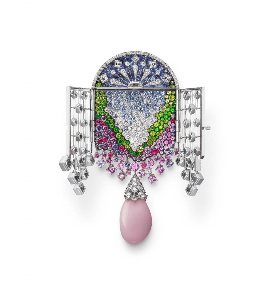 MIKIMOTO《Jardin Mystérieux》頂級珠寶系列花園柵門造型胸針_開啟