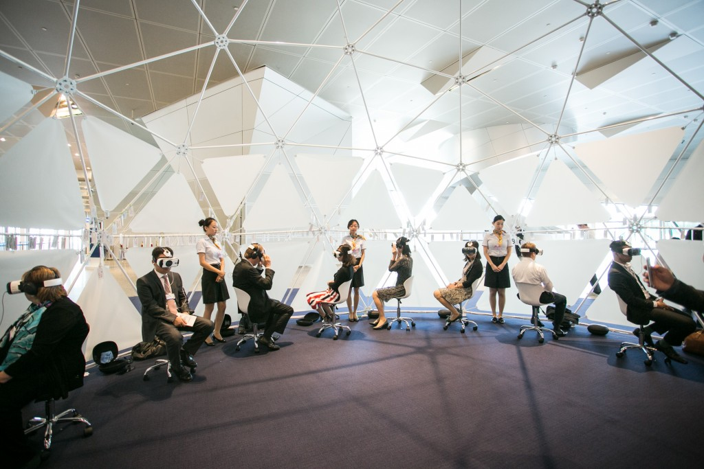 Virtual Reality Dome at the World Economic Forum - Annual Meeting of the New Champions in Dalian, People's Republic of China 2015. Copyright by World Economic Forum / Faruk Pinjo