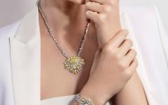 伯爵全新頂級珠寶作品《Golden Oasis燦金綠洲》模特兒形象照-1