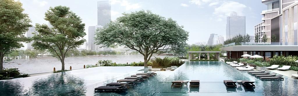 曼谷湄南河四季酒店_泳池