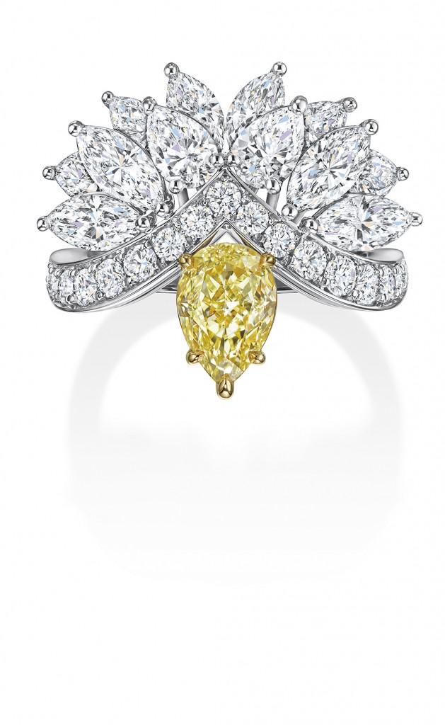 海瑞溫斯頓New York Collection Eagle 黃鑽鑽石戒指 (2)