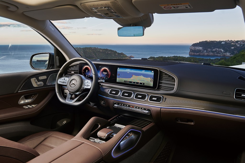 Mercedes-Benz GLS, 2019, AMG Line, designo selenitgrau metallic, Leder espressobraun Mercedes-Benz GLS, 2019, AMG Line, designo selenite grey metallic, espresso brown leather