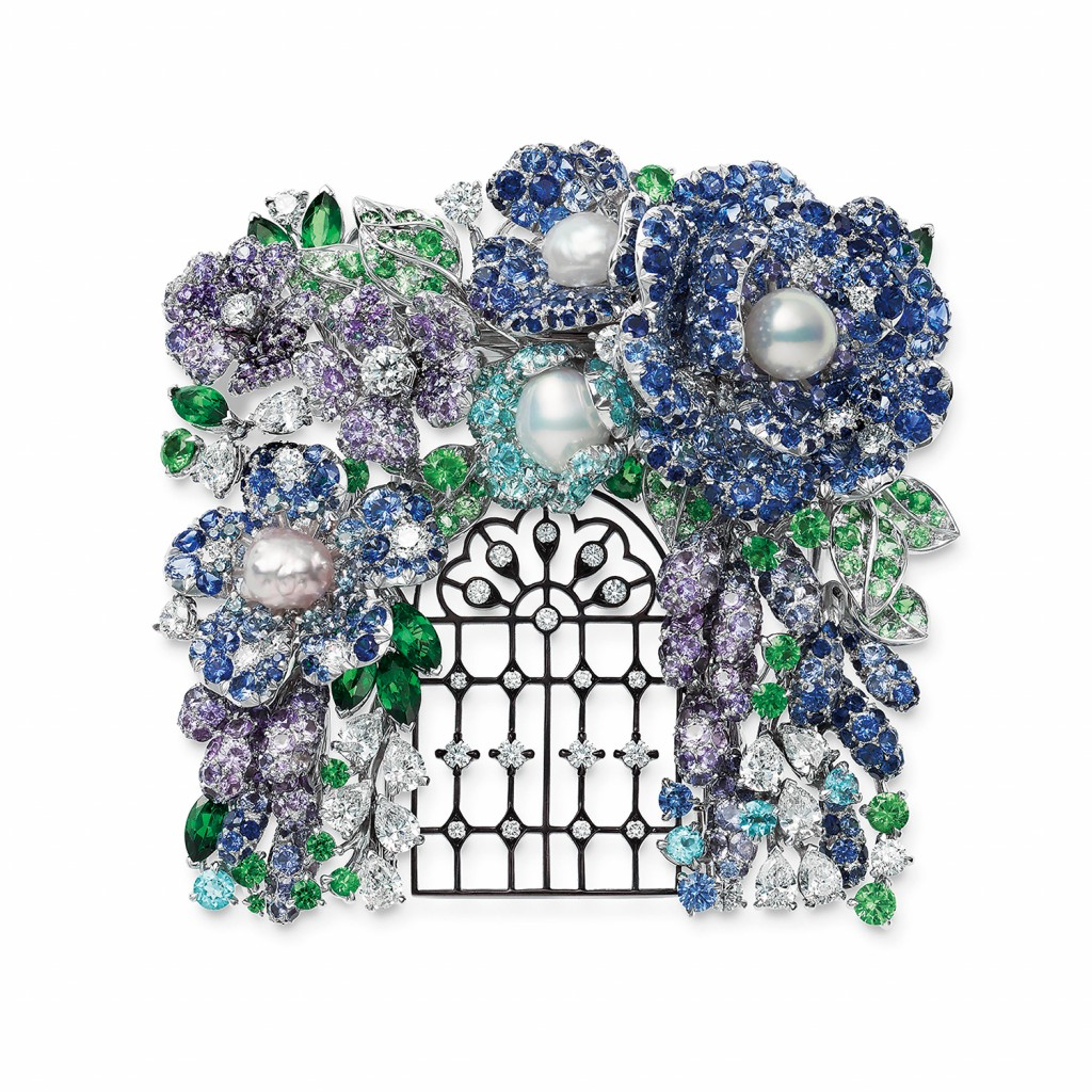 MIKIMOTO《Jardin Mystérieux》頂級珠寶系列庭園鍛鐵柵欄造型胸針