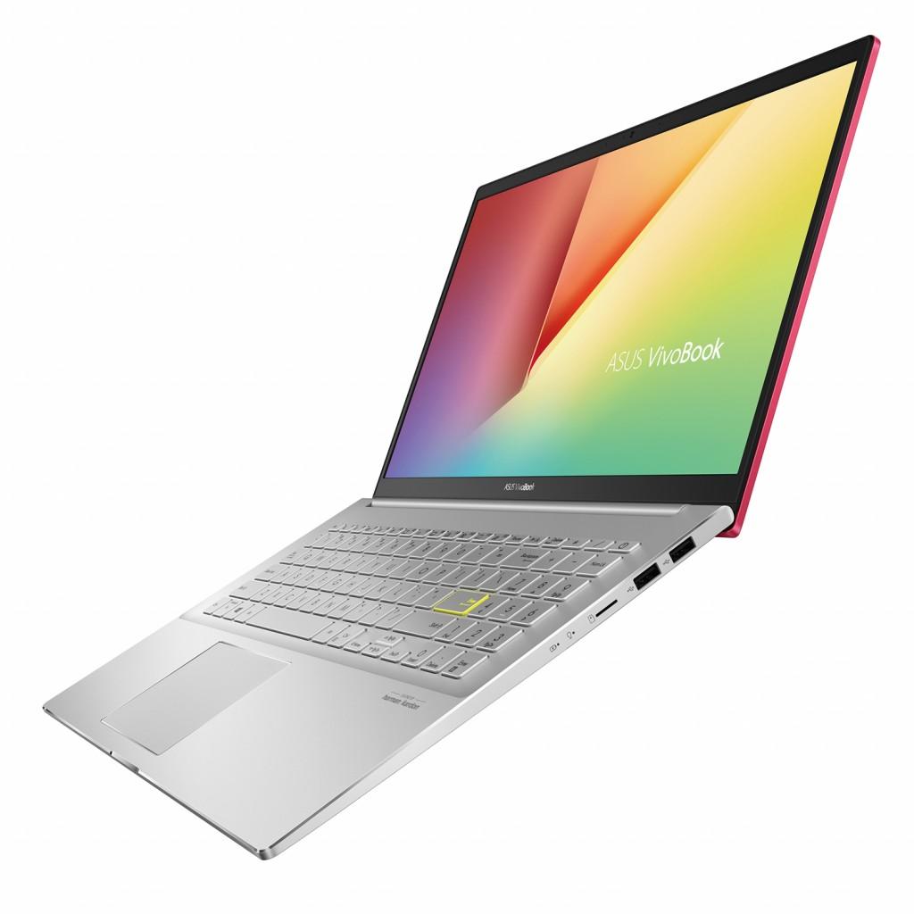 搭載14吋螢幕的VivoBook S14與15.6吋螢幕的VivoBook S15螢幕佔比分別為85_及86_,Full HD超窄邊框螢幕具備178° 廣視角及優異的色彩顯示能力。