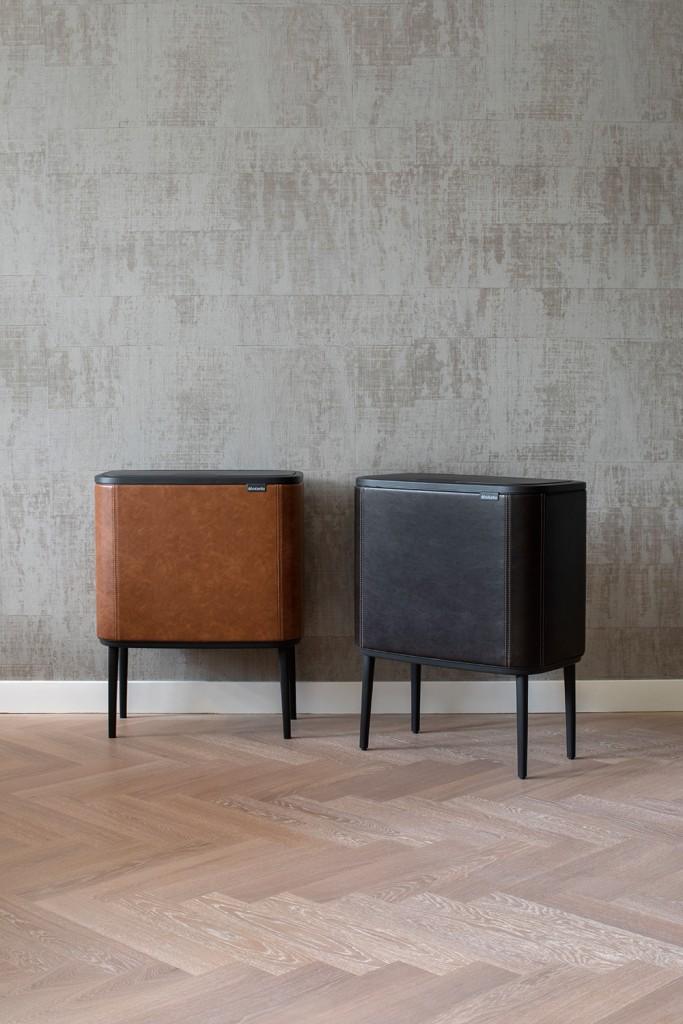 Bo Touch Bin, 11 + 23L - Cognac Vegan Leather - 8710755127304 Brabantia_300dpi_4480x6720px_6_NR-14785