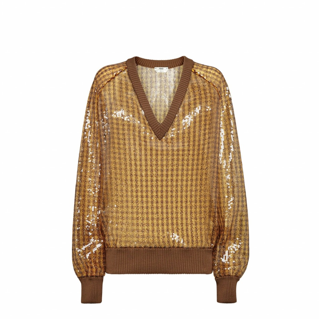 FENDI 春夏設計格紋上衣_建議售價NT$ 63,900