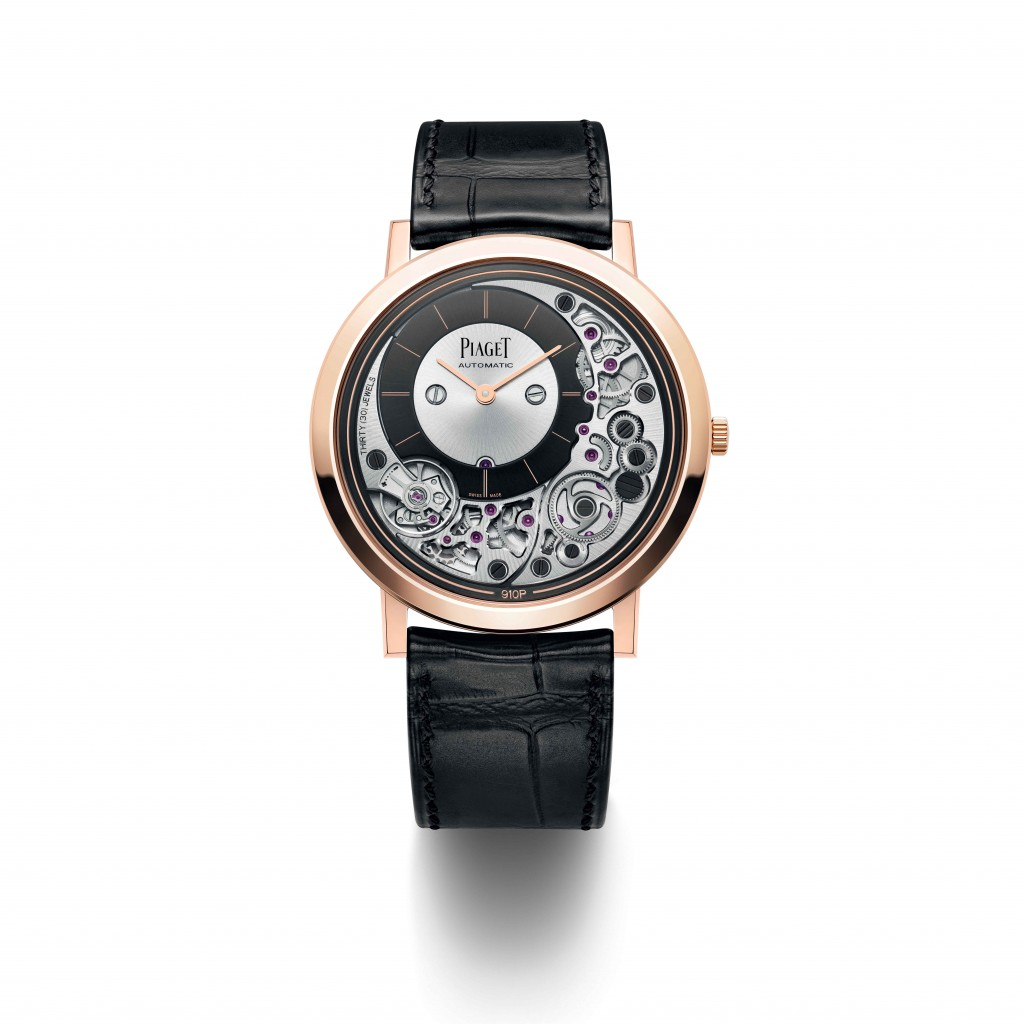 PIAGET Altiplano Ultimate Automatic 910P 18K玫瑰金超薄自動上鍊腕錶,建議售價NT$930,000_G0A43120
