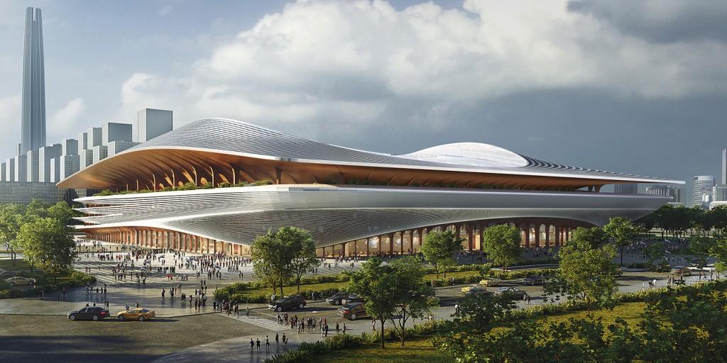 3_ZHA_Xi'an International Football Centre_Render_by_Atchain