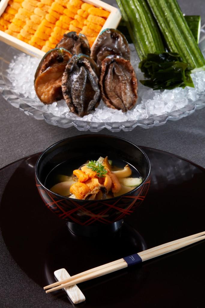 TheUkaiTiapei_割烹_青森莓煮 海膽鮑魚 (1)