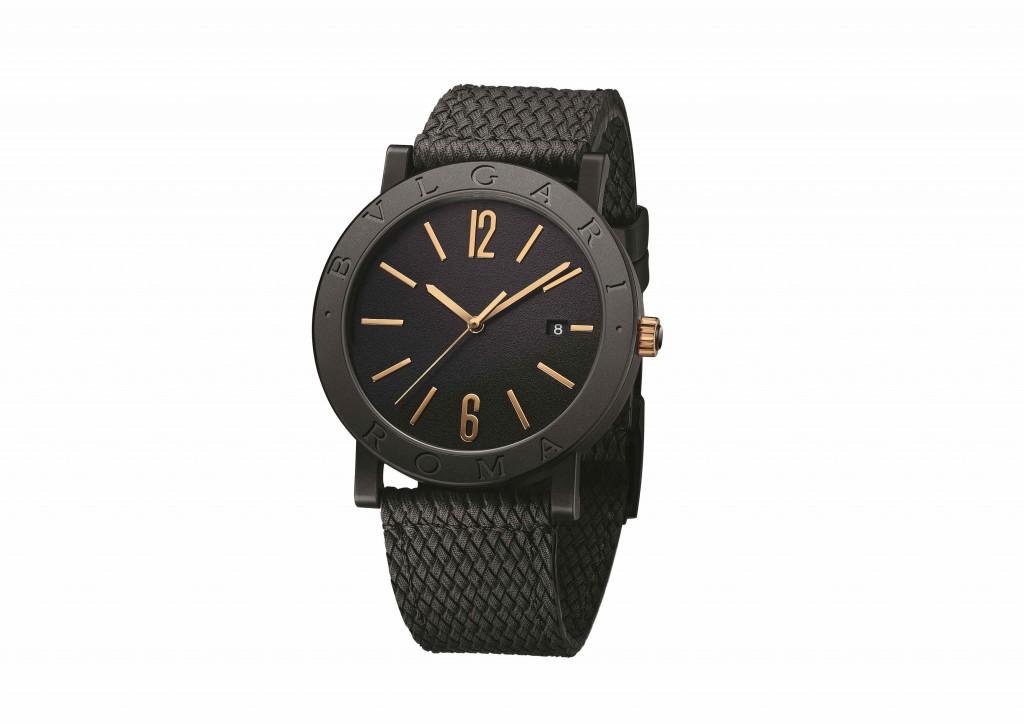103219_BVLGARI BVLGARI 城市特別版 BVLGARI ROMA腕錶_參考售價約新台幣133,600元_2(黑色橡膠錶帶)